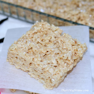 Browned Butter Vanilla Bean Rice Krispy Treats Recipe