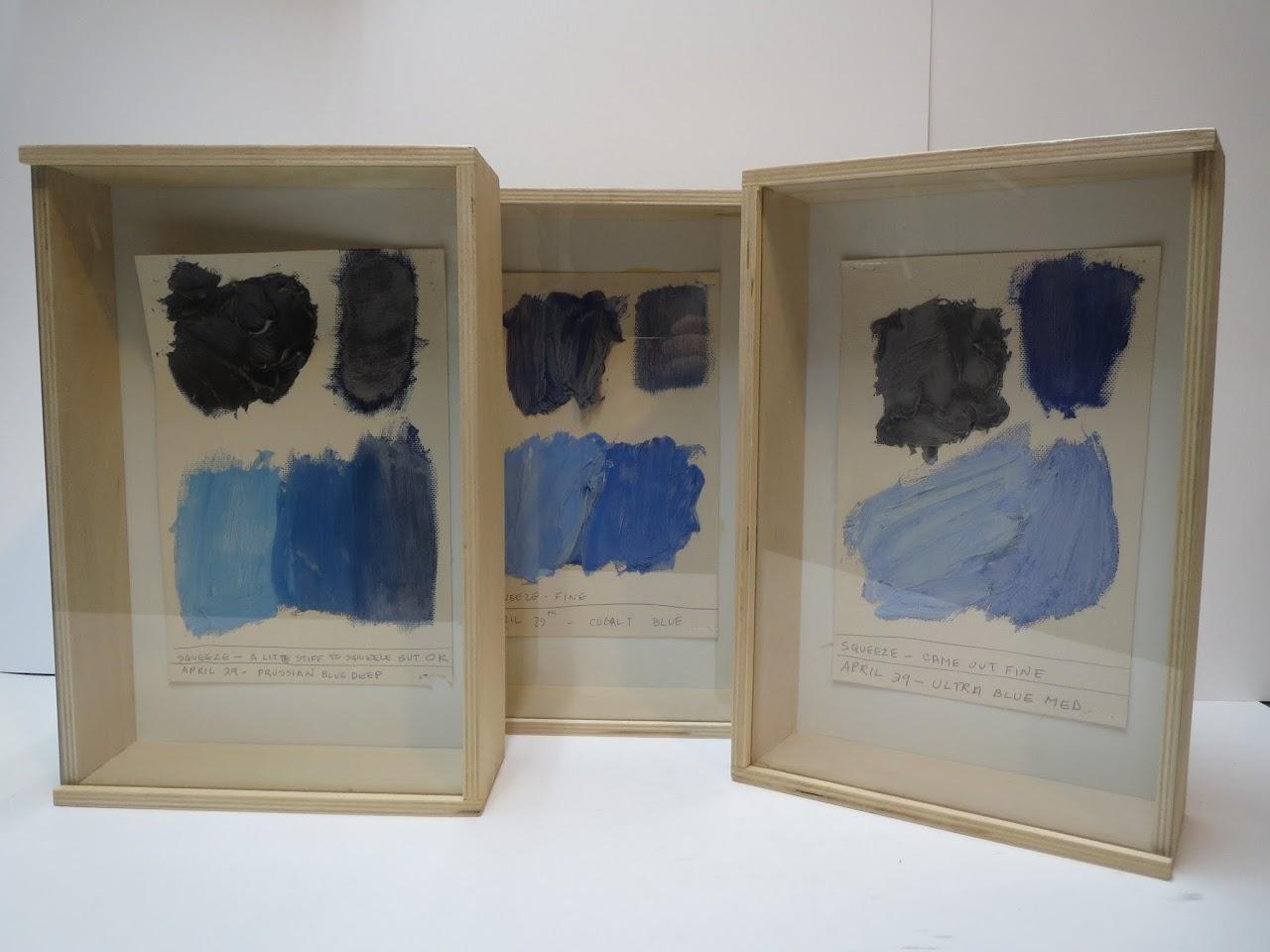 Blue Color Study Trio