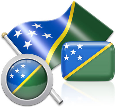 Solomon Island flag icons pictures collection