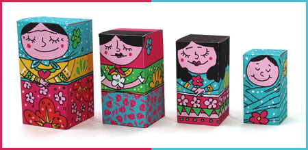2012 Mother's Day Papercraft Generaciones Nesting Dolls
