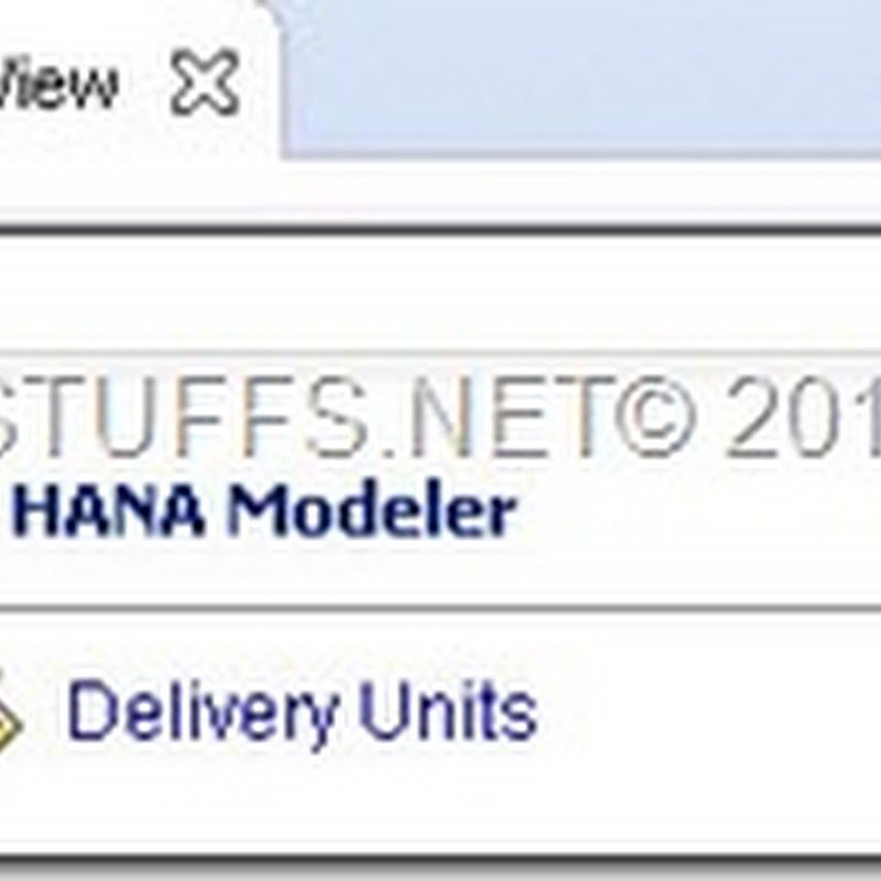 Creating Delivery Unit In SAP HANA