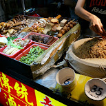 street food at the Shilin night market in Taipei in Taipei, T'ai-pei county, Taiwan