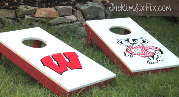 DIY University of Wisconsin Cornhole