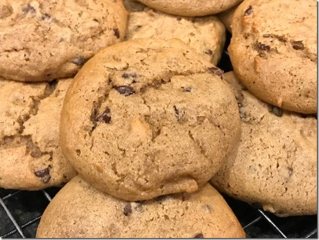 Gluten Free Peanut Butter Banana Cookies with Chocolate Chips