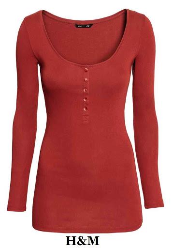 Camiseta ajustada manga larga en algodón - elastano