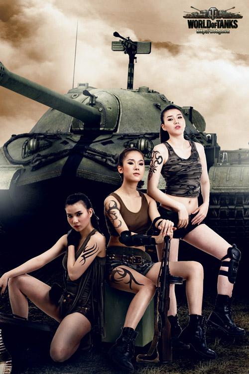Siêu mẫu Thái Hà gợi cảm trong bộ ảnh World of Tanks 6