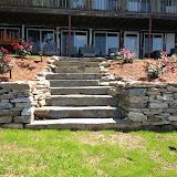 Rustic Slab Stone Steps