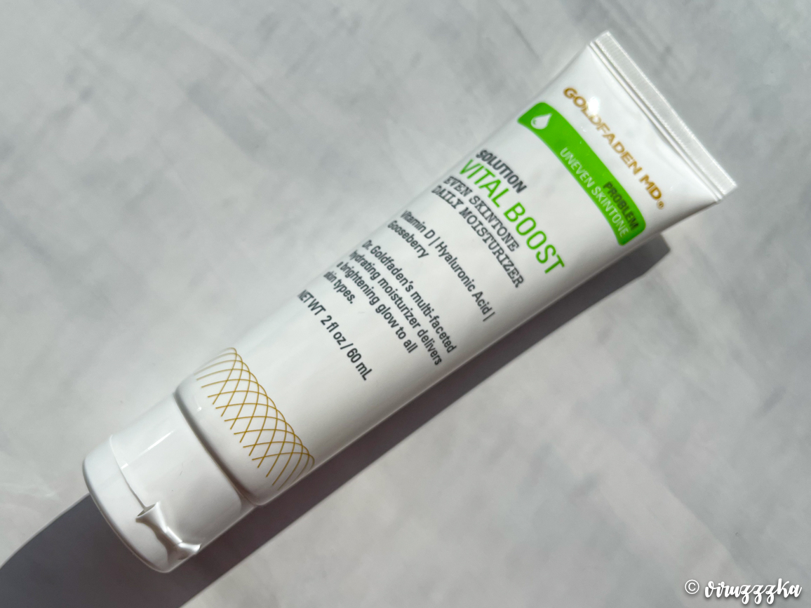 GOLDFADEN MD VITAL BOOST Even Skintone Daily Moisturizer Review