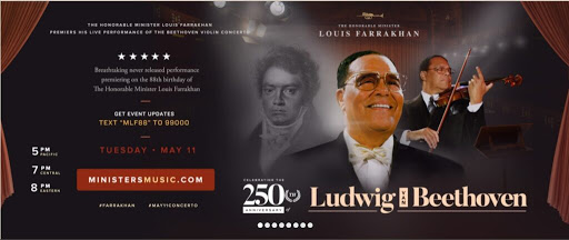 The Honorable Minister Louis Farrakhan's gift of music to America and the world