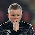 Sheffield United Manager, Chris Wilder Reacts after Being Sacked