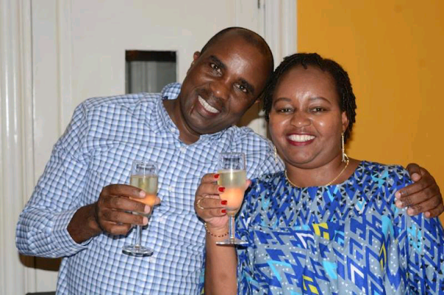 Governor Anne Waiguru with her husband Kamotho waiganjo