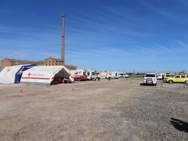 Zona de Apartamiento de Vehiculos de Emergencias y vista parcial de la zona de intervencion.