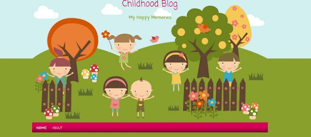 Childhood Memory Blogger Template