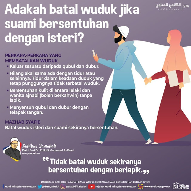 Batalkah wuduk suami isteri jika Bersentuhan