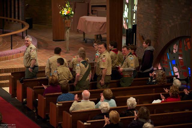 Scouts in attendance