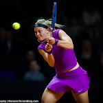 STUTTGART, GERMANY - APRIL 19 : Carina Witthöft in action at the 2016 Porsche Tennis Grand Prix