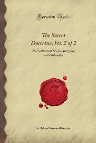 Cover of Helena Petrovna Blavatsky's Book The Secret Doctrine Vol II Anthropogenesis