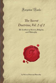 Cover of Helena Petrovna Blavatsky's Book The Secret Doctrine Vol II Anthropogenesis