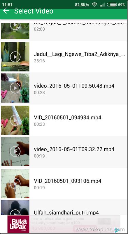compress video di android agar berukuran lebih kecil