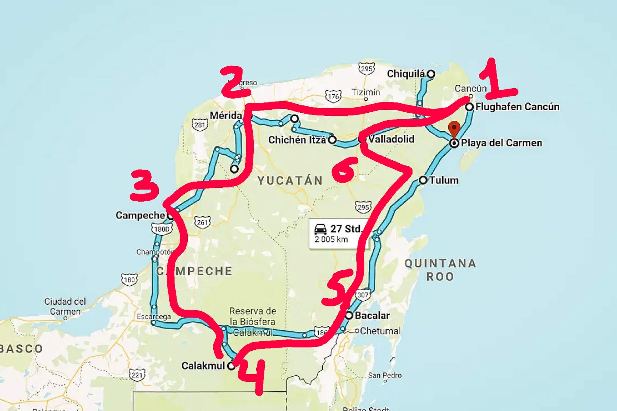 Circuit Yucatan Road Trip