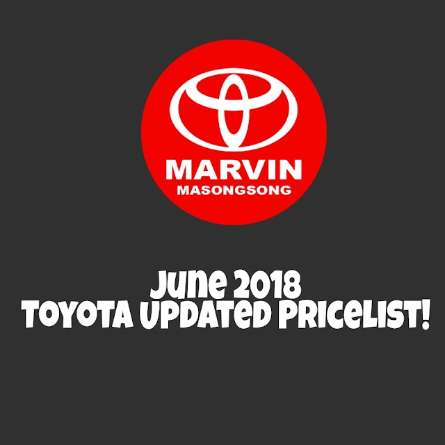 June 2018 Toyota Updated Prices