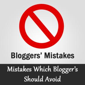 Kesalahan Yang Harus Hindari Blogger