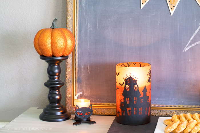 Pumpkin on a candlestick