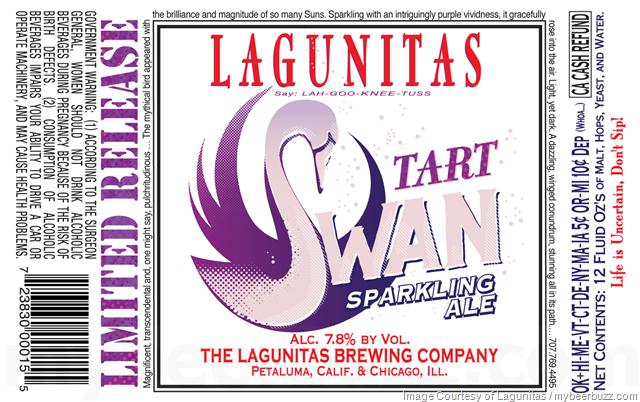 Lagunitas Adding Tart Swan Sparkling Ale & Mozango Bottles