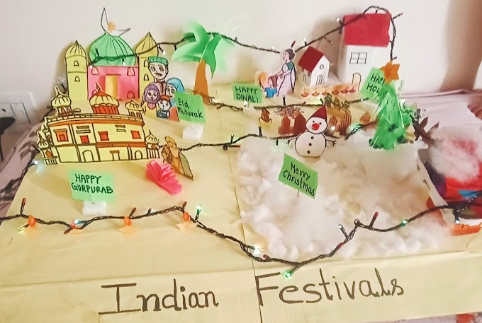 Festivals of india school project model  and short essay for our festivals