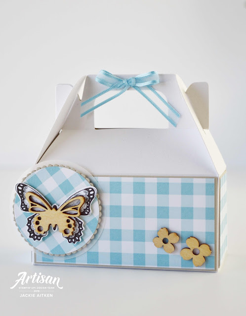 Butterfly Card, Butterfly Gala, Gable Gift Box, Gingham Gala Suite, OSAT Blog Hop, Sale-a-Bration 2019, Stampin' Up!, jaxxcraftycreations.blogspot.com