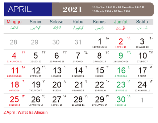 Download Desain Kalender 2021 Lengkap Cdr Free Jawa Hijriah Masehi