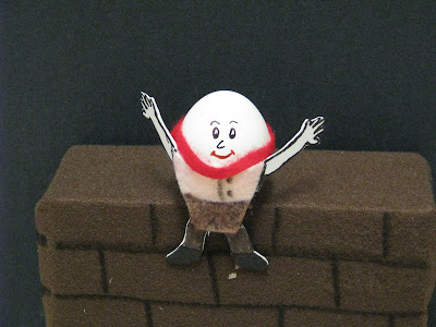 Humpty Dumpty Sat on a Wall. Egg shell Humpty!