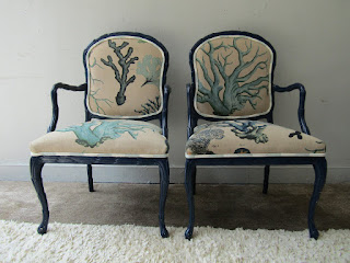 Upholstered Armchair Pair