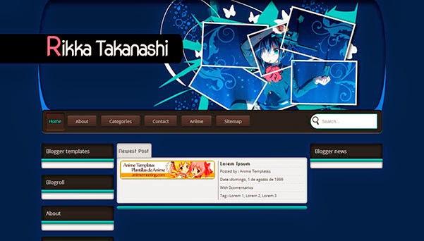 anime blogger template Rikka Takanashi