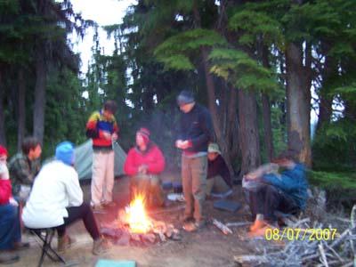 Friendship around the campfire