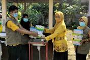 Pemdes TIMUSU  Distribusikan Masker, Hand Sanitizer dan Tempat Cuci Tangan Serta Pemasangan CCTV
