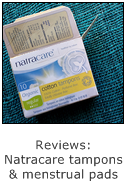 reviews of natracare tampons and menstrual pads