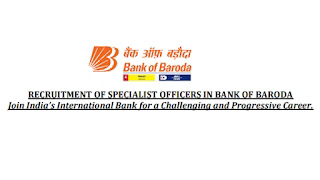 Bank of Baroda (BOB) Recruitment for Specialist Officers