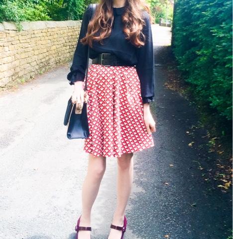 Parisian style midi skirt