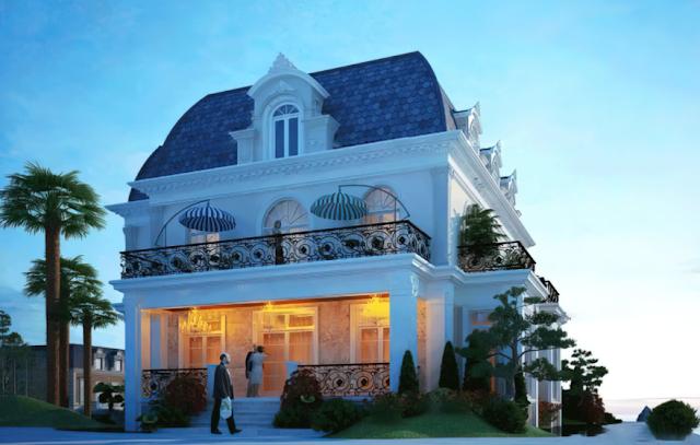 Ngôi biệt thự 2 tầng lãng mạn mang phong cách cổ điển tại Bình Dương