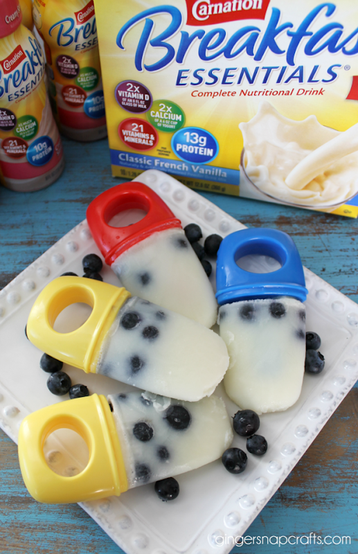 blueberry pops with Carnation Breakfast Essentials