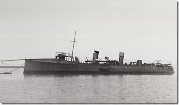 USS Farragut (TB-11) off Mare Island Navy Yard circa 1899