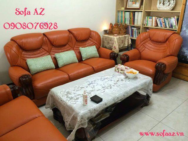 Bọc ghế sofa ghế salon da bò nhập khẩu ý quận 6