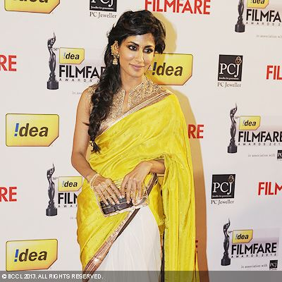 Chitrangada Singh looked graceful in a sari during the 58th Idea Filmfare Awards 2013, held at Yash Raj Films Studios in Mumbai.Click here for:<br />  58th Idea Filmfare Awards<br />