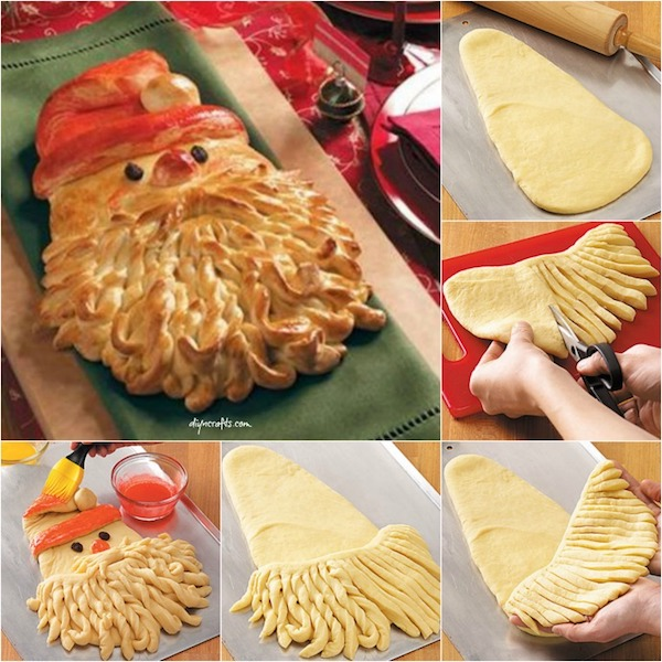 Santa Claus Shaped Bread