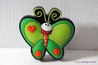 裝潢五金 品名:KT031-綠蝴蝶 規格:寬25*高45m/m 材質:塑膠 顏色:綠色 玖品五金