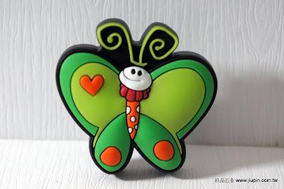 裝潢五金 品名:KT031-綠蝴蝶 型式:單孔 規格:寬45*高25m/m 材質:塑膠 顏色:綠色 玖品五金