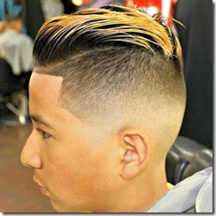 Low Bald Fade with Slick Back