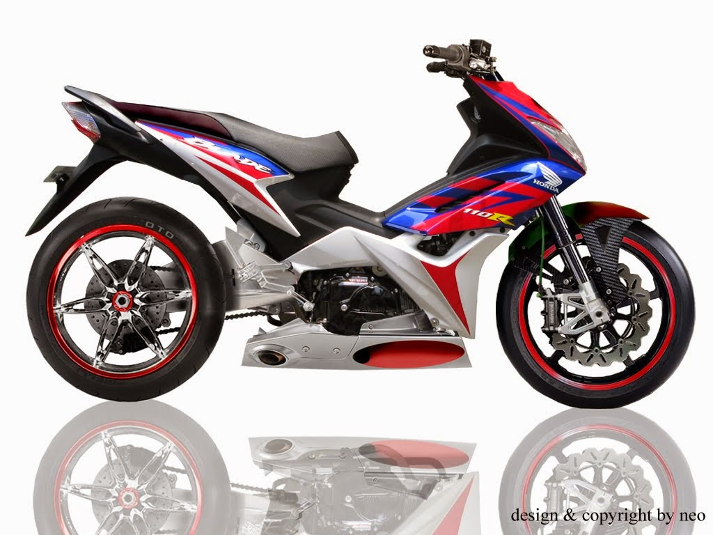 Honda Blade Modifikasi