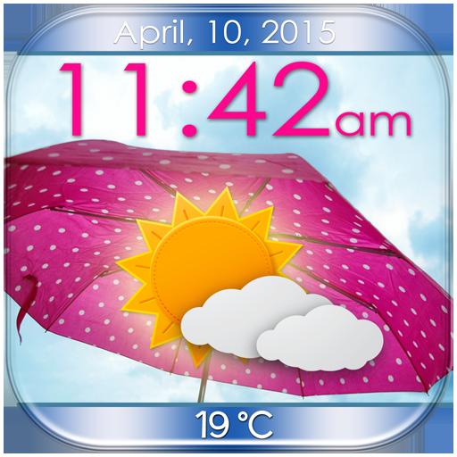 伞的天气时钟小工具 個人化 App LOGO-硬是要APP